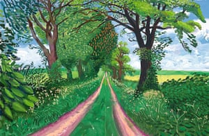David Hockney's Late Spring Tunnel, May, 2006