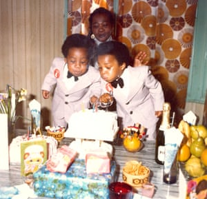 Twin Boys celebrating their 4th birthday, 1978