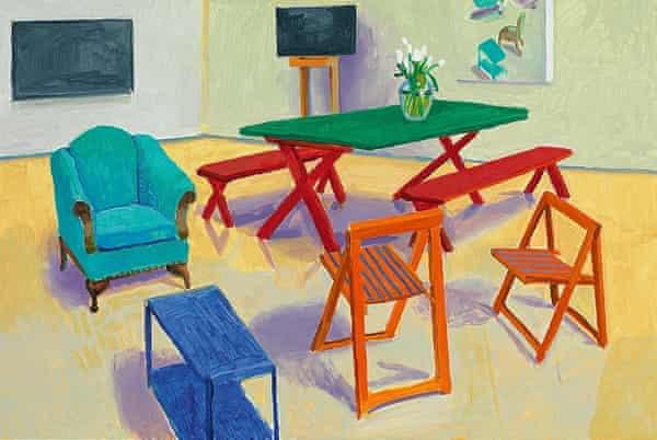David Hockney's Studio Interior #2, 2014