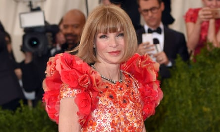 Anna Wintour arrives at the Met Ball on Monday