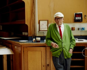 David Hockney at home in London