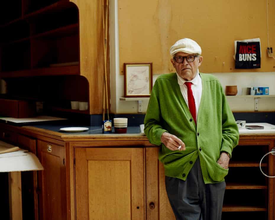 David Hockney at home in London