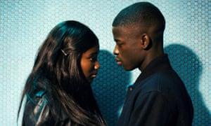 Marieme (Karidja Touré) and her boyfriend Ismaël (Idrissa Diabaté) in Girlhood.