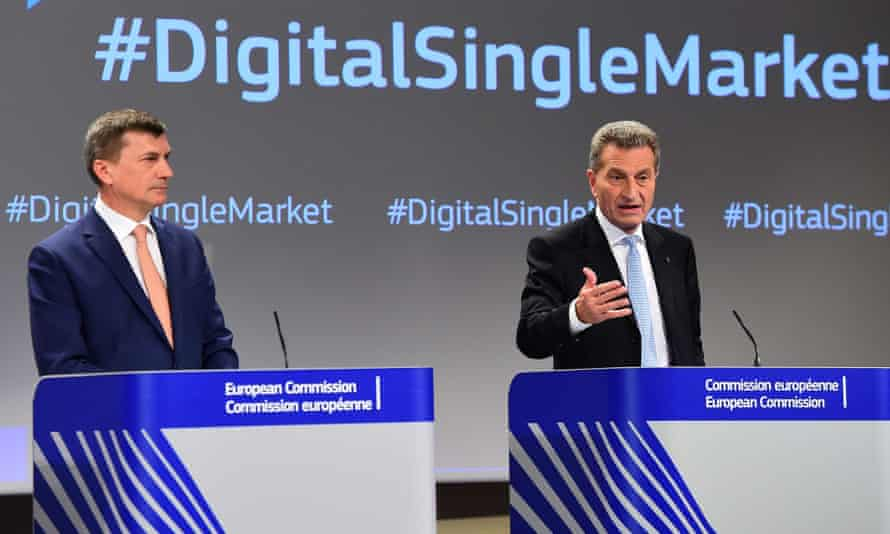 Andrus Ansip and Günther Oettinger
