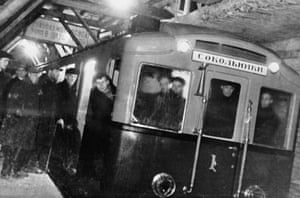 The Moscow Metro's first train run, October 1934