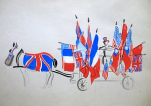 Horse &amp; Cart near Picadilly<br>Drawing: Janet Smith Salabelle