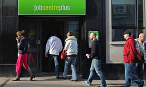 People entering a jobcentre