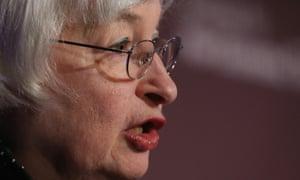 Yellen warns of market dangers.