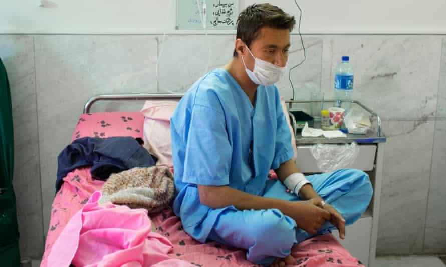 The waiting game: Ghaffar Naghdi, 24, just before his operation. He spent years looking for a donor.