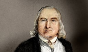 Jeremy Bentham, 1748-1832, English philosopher, writer on jurisprudence and social reformer. He inspired a quest to measure happiness.