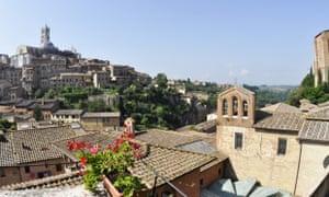 The view from Siena's Albergo Bernini