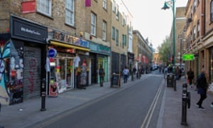 Alan Miller's launch of the Vibe bar 20 years ago helped turn Brick Lane, pictured, into a creative and cultural centre in east London.