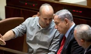 Benjamin Netanyahu Israeli economy minister Naftali Bennett