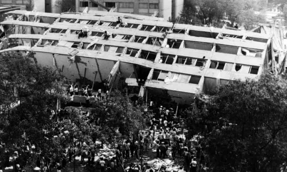 Edificio de Tlatelolco collapsed during the 1985 earthquake, leaving up to 300 people dead.