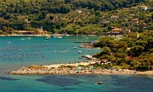 Beach, Palmaria island, Ligurian coast, Italy