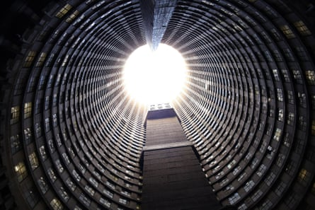 The inner core of Ponte's 173-metre concrete cylinder became a giant rubbish tip.