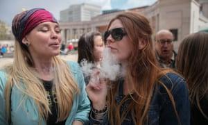 A marijuana rally in Denver, Colorado.