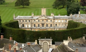 An aerial view of the Lady Bathurt's property in Cirencester.