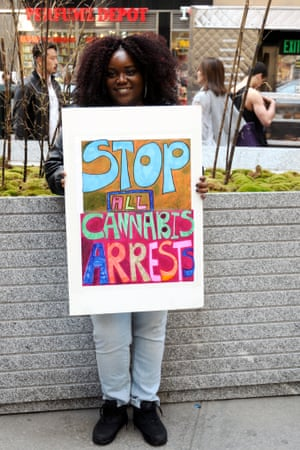 A woman at the annual Cannabis Parade and Rally in New York, May 2015.