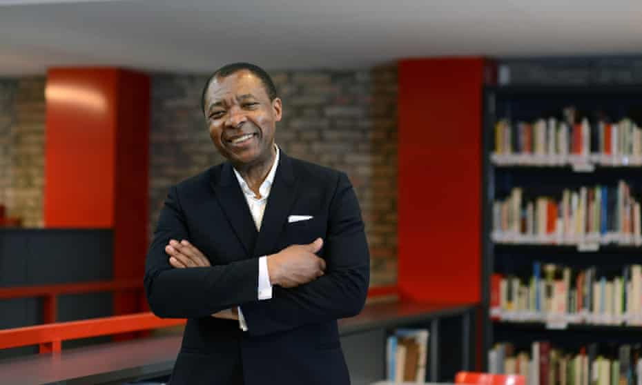 Okwui Enwezor, curator of the 56th international Art Exhibition, in the Biennale Library, Central Pavilion.
