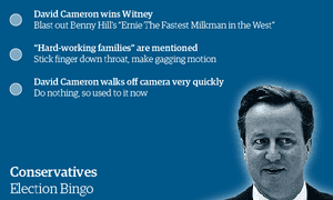 Election Night Bingo Are You Ready To Play The Game Opinion The Guardian