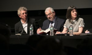 A panel at the PEN World Voices Festival on Wednesday, May 6, 2015, discusses the legacy of the Armenian genocide. From left to right, author Eric Bogosian, historian Ronald Grigor Suny, and novelist Nancy Kricorian.
