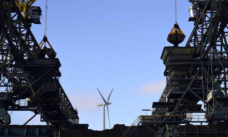 Coal is being unloaded at a terminal at   Mittellandkanal  , Germanys largest Federal waterways, at the coal-fired Kraftwerk Mehrum power plant at Haemelerwald on March 12, 2015 near Sehnde, Germany.