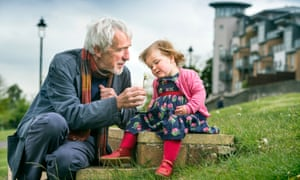 Richard Lawrence from Bristol with his granddaughter