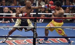 mayweather punching pacquiao