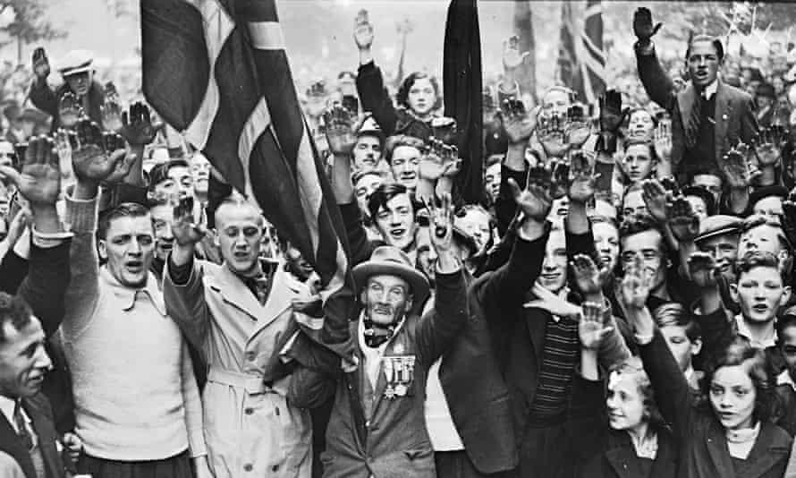 Fascist demonstration, London, 1937.