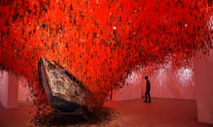 The Key in the Hand by Chiharu Shiota