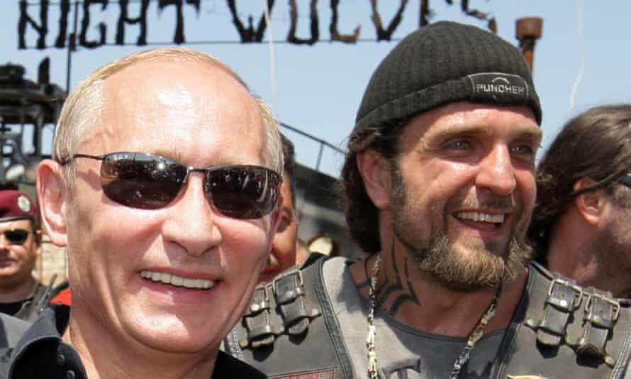 Vladimir Putin and Alexander Zaldostanov, nicknamed The Surgeon.