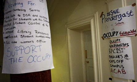 Goldsmith posters at Deptford town hall