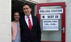 Labour party leader Ed Miliband and his wife Justine Thornton