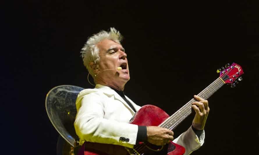 David Byrne on stage in 2013.