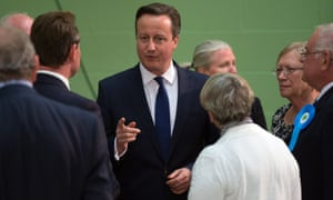 Prime Minister David Cameron arrives at at the Windrush Leisure Centre in Witney, Oxfordshire, to see the count of his constituency.