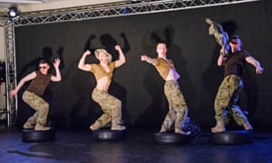Off duty: crude machismo surfaces in 5 Soldiers: The Body Is The Frontline by Rosie Kay Dance Company.