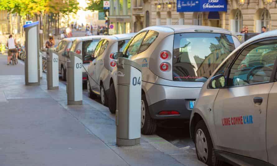 Autolib, the electric car-share scheme in Paris.