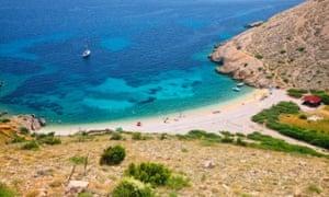 Beach Stara Baska - island Krk, Croatia