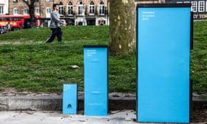 Homeless in London 2010, 2013, 2015.