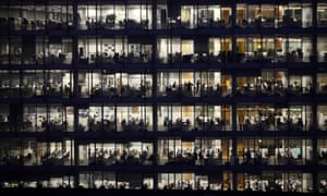 Office workers at the Blue Fin Building in Southwark