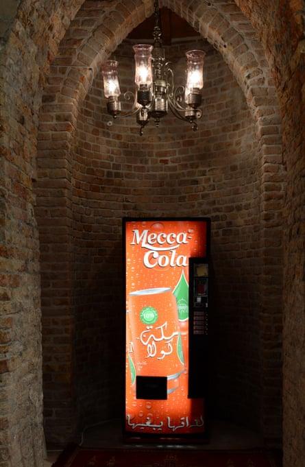 A Mecca Cola drinks machine in the Santa Maria della Misericordia.