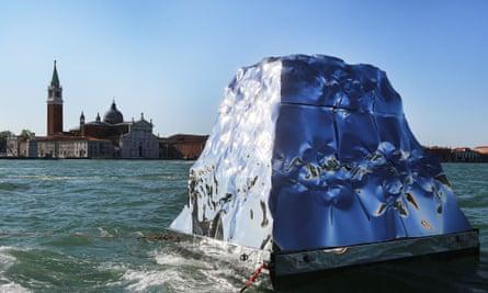 Italian-Albanian artist Helidon Xhixha's iceberg installation at this year's Venice Biennale.