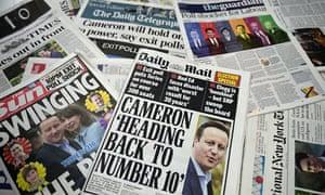 British election result headlines