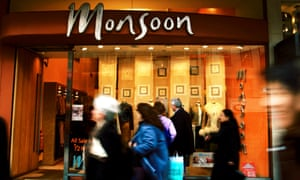 A Monsoon shop in London. Stores may have to close after profits fell to £50m.