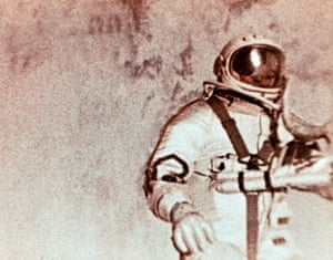 Leonov was outside the spacecraft for 12 minutes and nine seconds during the space walk.