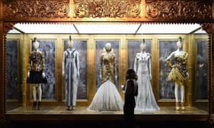 Alexander McQueen designs on display at the Savage Beauty exhibition at the V&A in London.