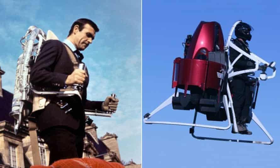 James Bond's jetpack v Martin jetpack.