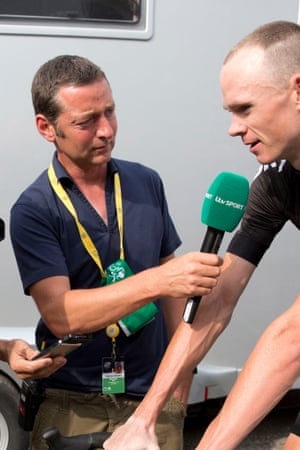 Ned Boulting in action at the Tour de France.