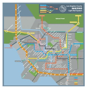 Future subway map of LA, featured in Her (2013)